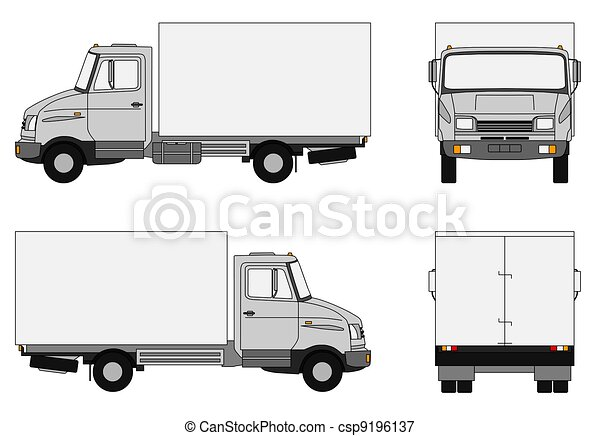 Grey lorry - csp9196137