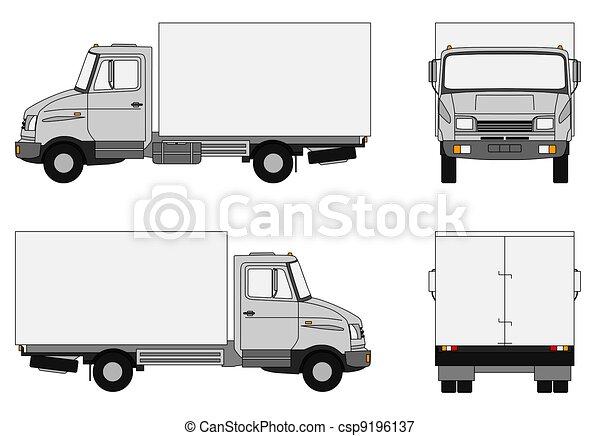 Grey lorry - csp9196137