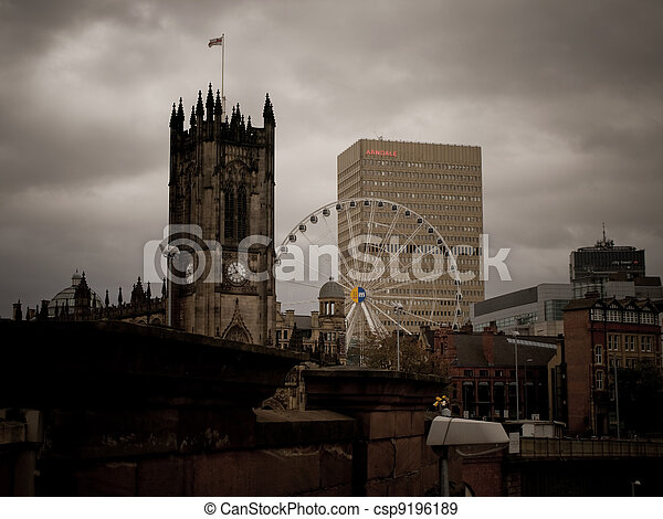 Landmarks of Manchester City Centre - csp9196189