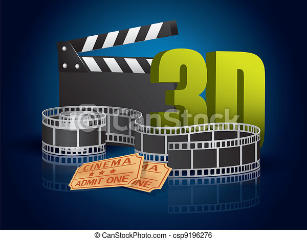 3d cinema - csp9196276