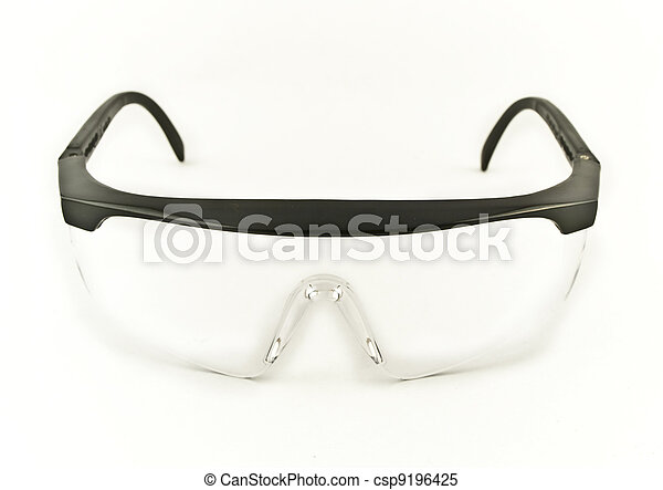 Safety Eye Goggles Facing Viewer - csp9196425