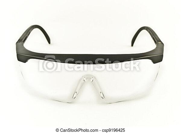 Safety Eye Goggles Facing Viewer - csp9196425