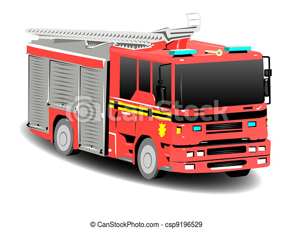 Red Emergency Services Firetruck Fire Engine - csp9196529