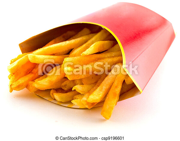 Salty Greasy French Freedom Fries - csp9196601