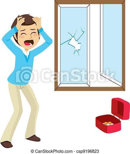 vectors of desperate burglary victim desperate burglary Broken House Window Broken Glass Window Clip Art