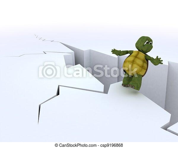 tortoise on a cliff edge - csp9196868