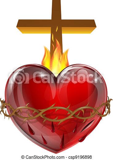 Vector - sagrado, corazón
