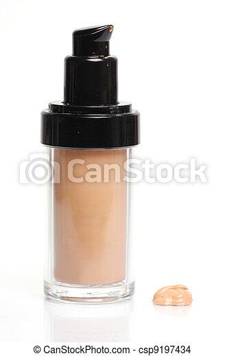 Foundation cream in bottle - csp9197434