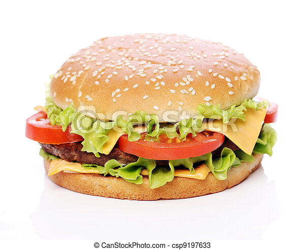 Big and tasty burger - csp9197633