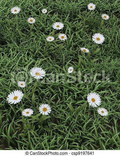 Spring flowers in bloom - csp9197641