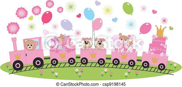 birthday celebration or invitation - csp9198145