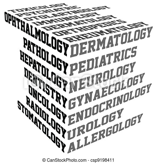 Typography with medical terms - csp9198411