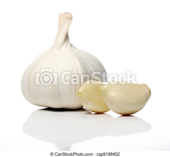Close up of Fresh garlic - csp9198452