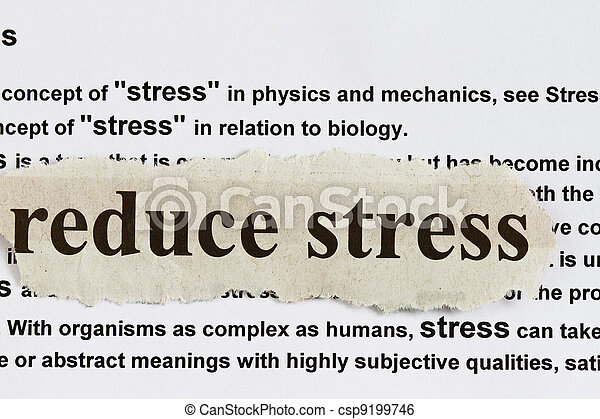 Reduce stress - csp9199746