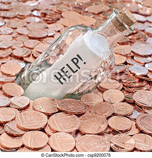Financial crisis call for help - csp9200076