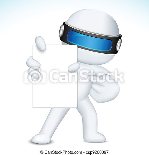 3d Business Nan in vector showing Blank Card - csp9200097