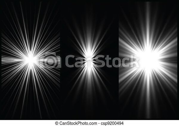 Set Black and White Lighting background. Vector - csp9200494