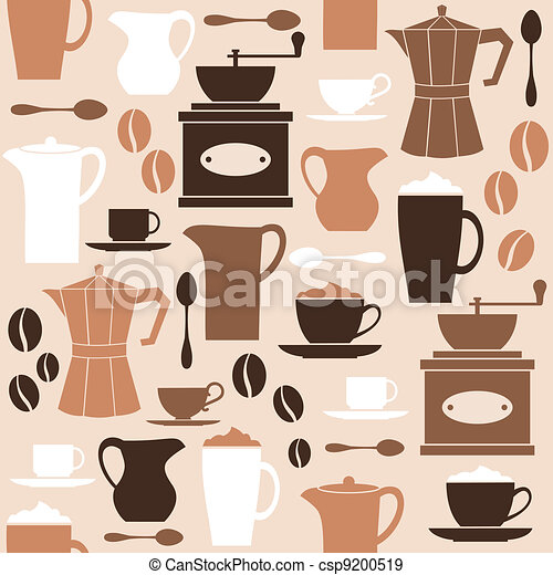 Retro Coffee Background - csp9200519