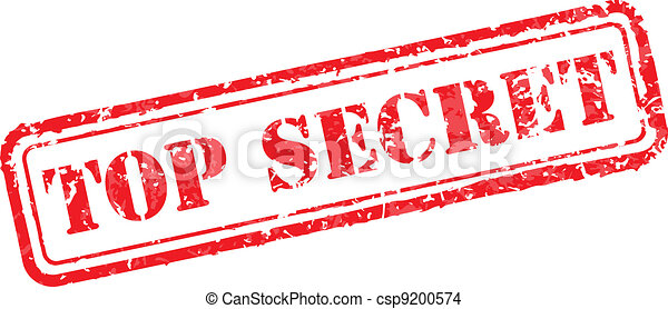 Top secret rubber stamp - csp9200574