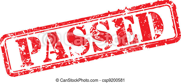 Passed rubber stamp - csp9200581
