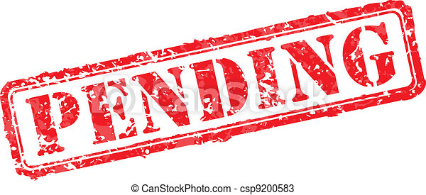Pending rubber stamp - csp9200583