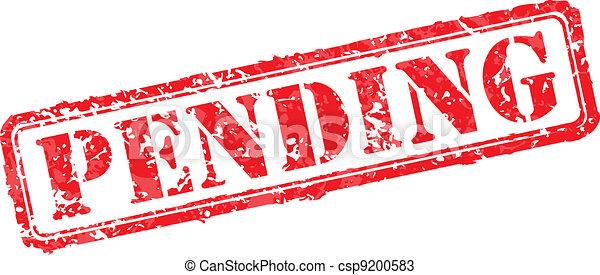 Pending rubber stamp - csp9200583