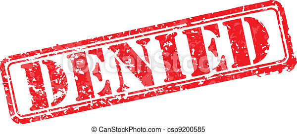 Denied rubber stamp - csp9200585