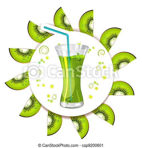 Glass of kiwi juice - csp9200601