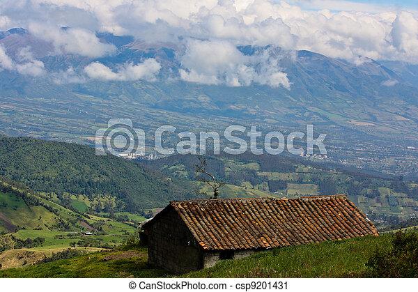 Ecuador Highlands view - csp9201431