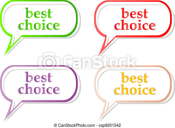 Vector best choice label stickers set - csp9201542