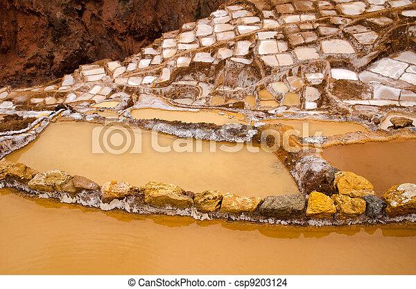 The Maras Salt Mines (Salinas De Maras), Peru - csp9203124