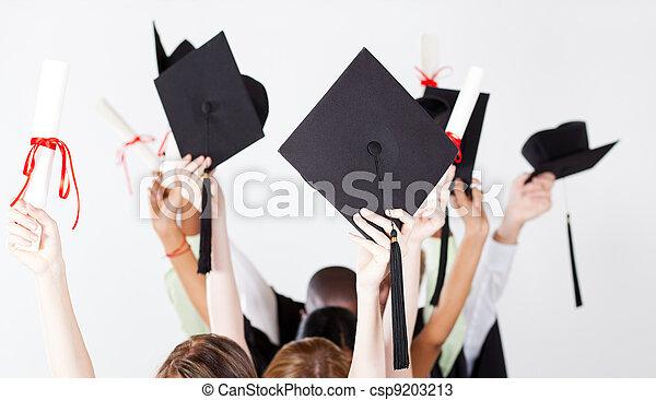 graduation caps and certificate - csp9203213