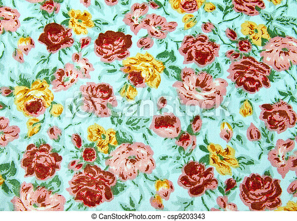 Flower wallpaper textile for background - csp9203343