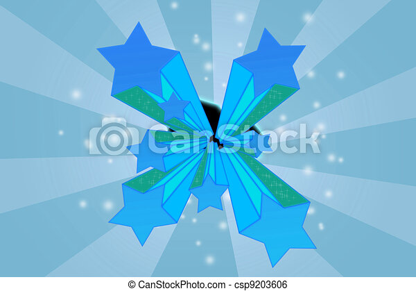 Stars on dynamic background - csp9203606