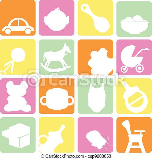 baby icons set - csp9203653