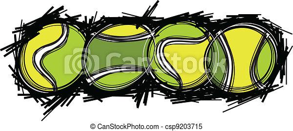 Tennis Balls Vector Image Template - csp9203715