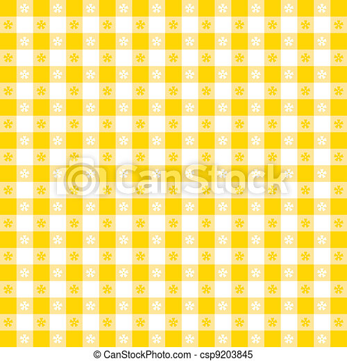 Seamless Tablecloth Gingham Pattern - csp9203845