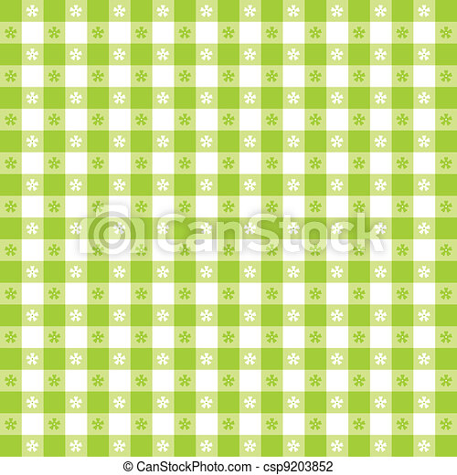 Seamless Tablecloth Gingham Pattern - csp9203852