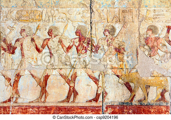 ancient egypt images and hieroglyphics - csp9204196