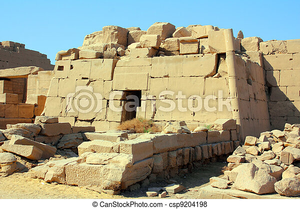 tomb in karnak temple in Luxor Egypt - csp9204198