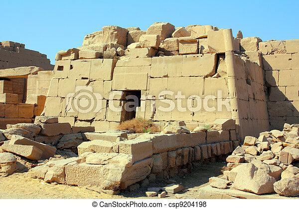 tomb in karnak temple in Luxor Egypt - csp9204198