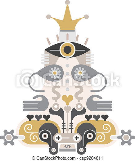 Money Pyramid - vector icon - csp9204611