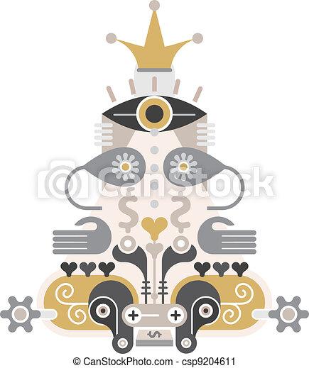 Money Pyramid - vector icon - csp9204611