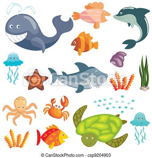 Marine animals set - csp9204903