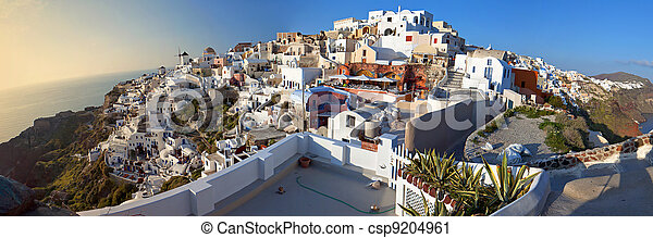 Oia village at Santorini, Greece  - csp9204961