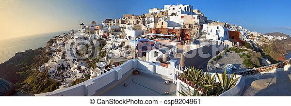 Oia village at Santorini, Greece  - csp9204961