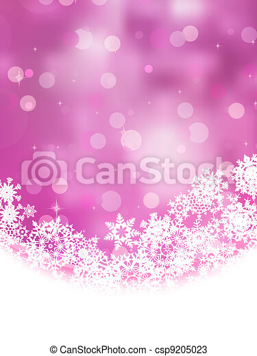 Pink background with snowflakes. EPS 8 - csp9205023