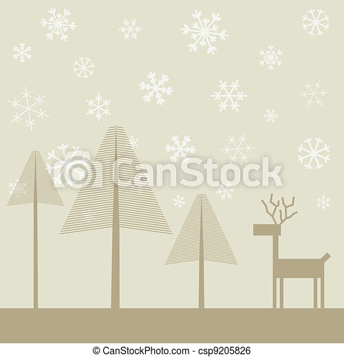 Deer in wood2 - csp9205826