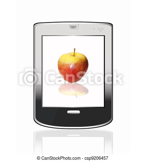 Silvery  abstract tablet pc - csp9206457