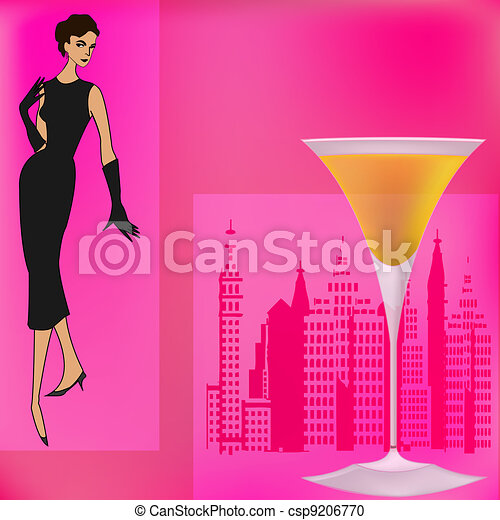 Vector Clipart of Cocktail Bar Menu Template Background – Drinks Menu Template Free